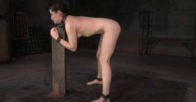All Natural Kasey Restrained And Used Hard By Big Dick With Drooling Brutal Deepthroat!