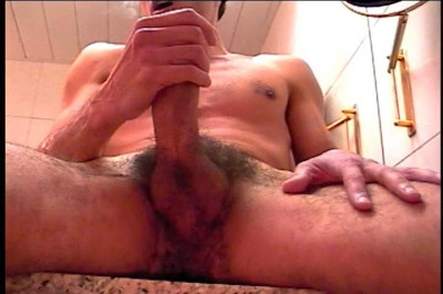 Gay Dude Pumps His Dick In Front Of The Mirror