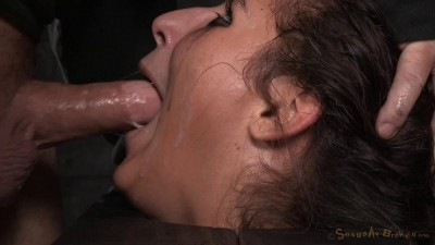 Abella Danger is throatboarded by BBC while bound to a sybian!