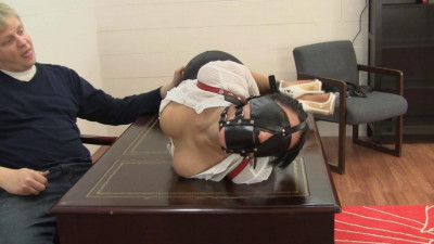 Enchantress Sahrye Leather Hogtie For The Bosss Pleasure (2015)