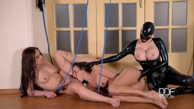 Two Submissive Lesbians Fucked With Strap-On
