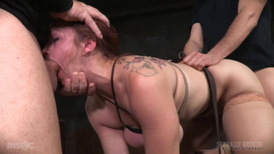Bella Rossi BaRS show continues with rough doggy style fucking and drooling BBC deepthroat