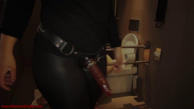 Deepthroated, then fucked and ruined with his head in the toilet