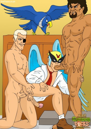Gay comics with characters from various cartoons