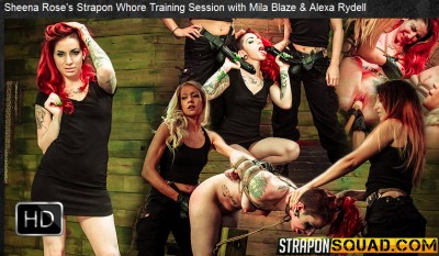 Straponsquad – May 13, 2016 – Sheena Rose's Strapon Whore Training Session