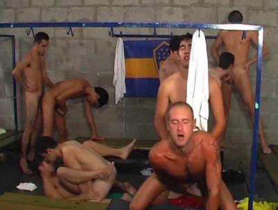 Sizzling orgy at locker rooms