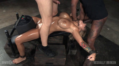 Huge Breasted Blonde Alyssa Lynn Restrained On A Sybian Multiple Orgasms (2015)