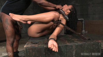 Toned Kira Noir Restrained In Metal Pipes Belt Bondage Taken From Ends Big Dick (2016)