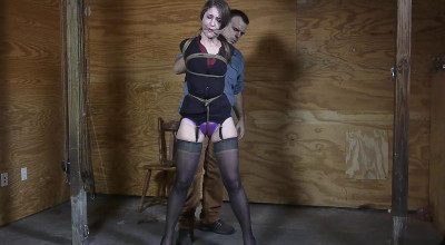 Terra's Legs Spread Hogtie - Part 1