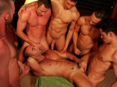 Muscle Men Gangbang At Island