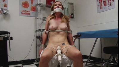 Bound And Gagged – Medical Clinic Vibrator Bondage For Miss Star Nine