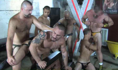 Amazing Gangbang With Brutal Piss Whores