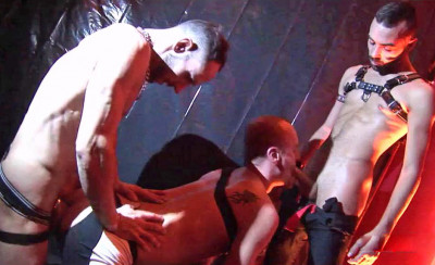 "Fostter Riviera, Joe Bexter & Ken Taylor in ""Stage Fucking Bareback"""
