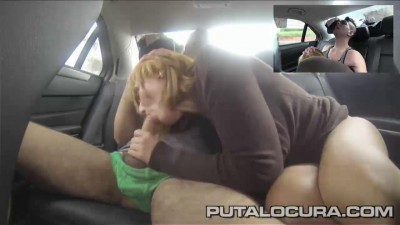 Milf fucked in a taxi