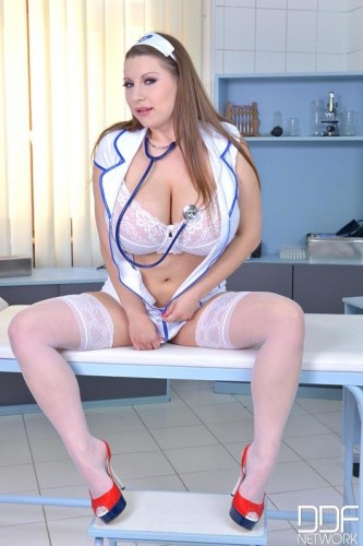 Medical Checkup — Voluptuous Nurse Plays With Her Big Tits