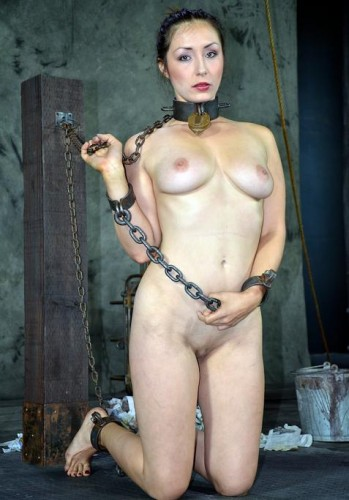 Beautiful slave in chains