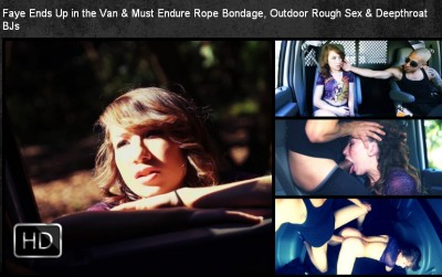 SexualDisgrace - Jan 16, 2015 - Faye Ends Up in the Van & Must Endure Rope Bondage
