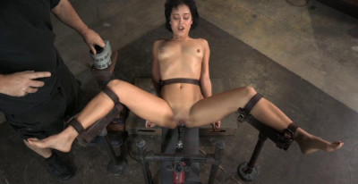 Mia Belted In Place On Fucking Machine With Punishing Deepthroat!