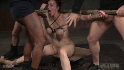 Busty Bella Rossi BaRS show with epic BBC