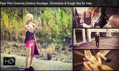 SexualDisgrace - Dec 03, 2014 - Piper Perri Endures Outdoor Bondage, Domination & Rough Sex for Help