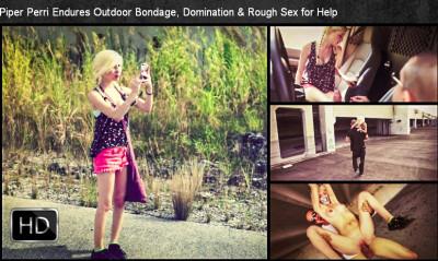 SexualDisgrace - Dec 03, 2014 - Piper Perri Endures Outdoor Bondage, Domination & Rough Sex for Help