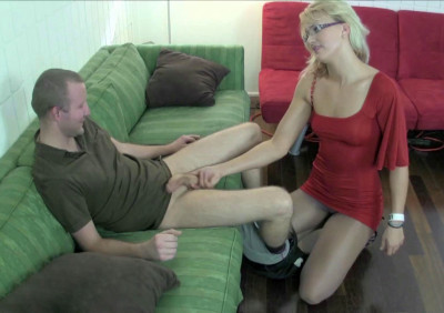 JC Simpson Punishers her Stepbrother with Ball Torment
