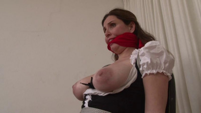 Bound and Gagged -Busty Maid Chair-Bound and Submissive – Jamie Lynn