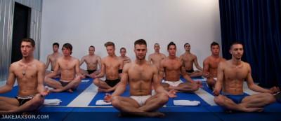 GoGo Boy Episode 5 Yoga Orgy Gabriel Clark fucks Max Ryder