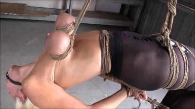 Super bondage and strappado for very hot blonde
