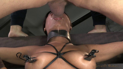 Selma Sins Drilled Down By Two Cocks, Brutal Challenging Deepthroat