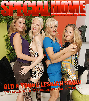 Old and young lesbian show