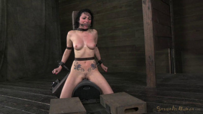 Pretty Veruca James utterly destroyed by brutal deep throat! Throat boarded on a sybian! HD