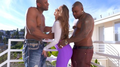 Remy Lacroix Dp'd, Her Ass Gets Owned By Two Big Black Cocks