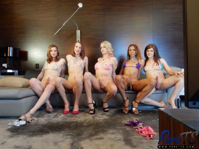 Bailey Love, Joss Amor, Natalie Anderson, Nikki Vicious, Taryn Elizabeth — Massive Bareback Orgy