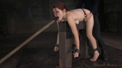 Redheaded Violet Monroe Strictly Shackled And Utterly Destroyed By Hard Cock