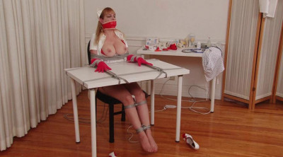 Gagging Nurse Boobie Part 1 - Chair Bondage and Orgasm for Lorelei