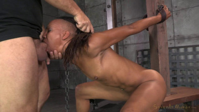 Toned Dancer Nikki Darling Strictly Shackled And Throat Trained By 2 Hard Cocks, Brutal Deepthroat