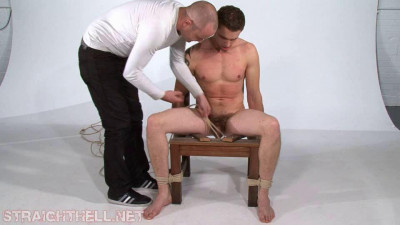 Terry2-l - Nipple clamped, CBT ties and pegs, roped by the neck and choked