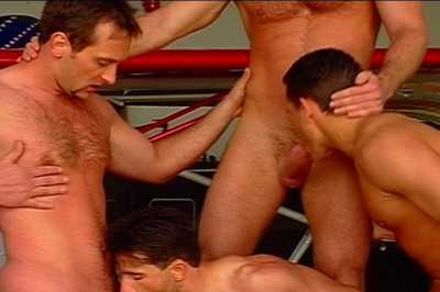 Hot Men Having Group Sex Fucking And Masturbating