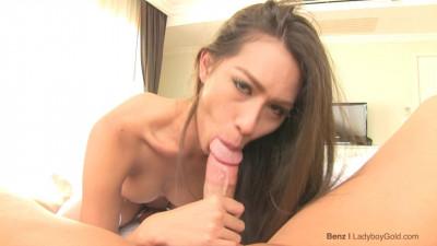 LadyBoyGold Benz 3  Schoolgirl Gaping Sex