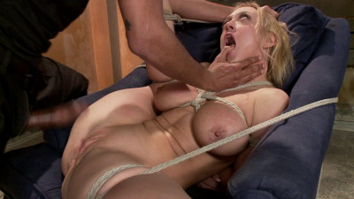 Blonde big tits ass fucked in tight bondage - Only Pain HD