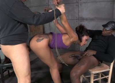 Sexy Skin Diamond gets bound, fucked, stuffed full of cock and brutally deepthroated!