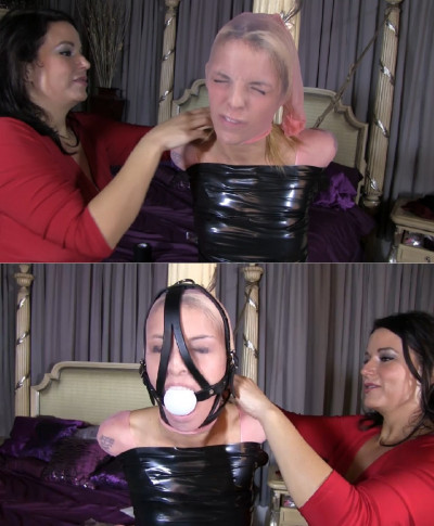 Super bondage, domination and mummification for young slut