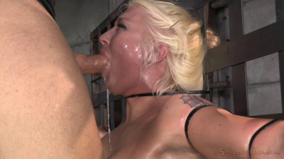 Leya Falcon ziptied onto a sybian, epically messy deepthroat and throatboarding!