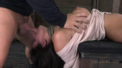 SB - Amazing MILF with Booming body, gets her first hardcore bondage threeway!
