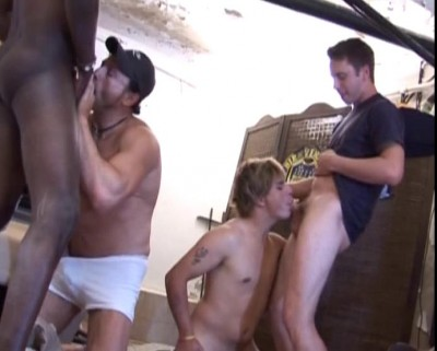 Foursome gay party