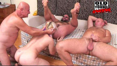 Old And Young Gang Bang-Aisha