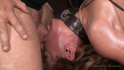 Darling drooling and deepthroating BBC cock while restrained .