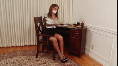 Bound and Gagged - OfficeBound ShinyBlouse Secretary - plus Outtakes - Miss Karter Foxx