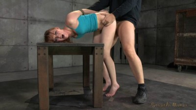 Marie McCray bound, sucks and brutal challenging deepthroat!